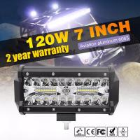 China 7inch 120W Auto LED Light Bar Waterproof Truck SUV 4X4 Offroad LED Work Light Bar on sale