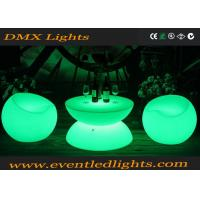 China PE Remote Controlled Led Bar Table Lighted Table With Glass Top on sale