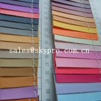 Buy cheap Smooth PU Synthetic Leather / PVC Synthetic Leather Material For Making Bags product