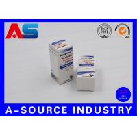 China Anabolic Steroids 10ml Vial Boxes Embossed Carton Paper Matt White Color Printing wholesale