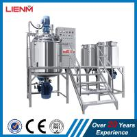 China PLC Control Cosmetic Face Cream Hydraulic lifting vacuum homogenizer emulsifier mixing machine with water and oil tank on sale