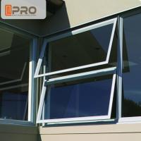 Buy cheap Sound Proof Insulation Top Hung Aluminum Awning Windows / Glass Top Hung Windows product