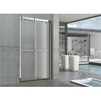 China 8mm / 10mm Clear /  Frosted Double Move Sliding Glass Shower Doors With CUPC certification Big Hanging Wheels on sale
