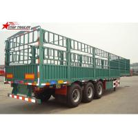 Buy cheap Q345 Carbon Steel Dropside Tipping Trailer , Roof Opened Drop Side Trailer product
