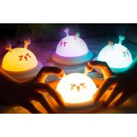 Buy cheap Rechargeable Cute Night Lamps LED Animal Night Light Colorful Silicone Night Light For Kids product