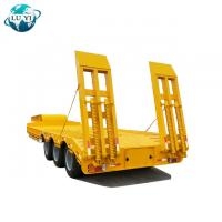 Buy cheap Low Price Factory Heavy Duty 3 Axles 60 80 100 Tons Lowboy Lowbed Low Bed Truck Semi Trailer product