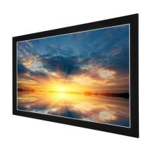 China Acoustically Transparent Fabric Fixed Frame Projection Screen With Velvet Aluminum Frame on sale