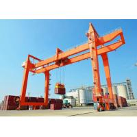 Buy cheap RMG Industrial Rail Mounted Gantry Cranes Electric Trolley Double Girder product
