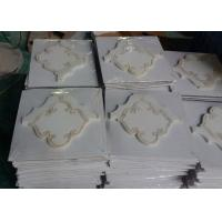 Buy cheap Pure White Marble Natural Stone Mosaic Tile Shell Polished Finish 10 MM Thickness product