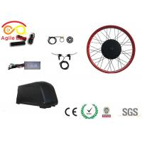 Brushless Gearless Motor Fat Tire Electric Bike Conversion Kit 26 Inch Wheel