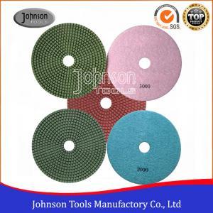 China SGS Standard Diamond Wet Polishing Pads 180mm Diamond Resin Polishing Pad on sale