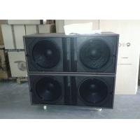 Buy cheap 4 Ohm 1800W RMS Church Sound Systems Dual 18 - inch Bass / Outdoor Subwoofer Speaker product