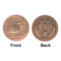 Buy cheap Army Air Force Cayuse OH - 6 Collectable Coins , Military Challenge Coins Custom product