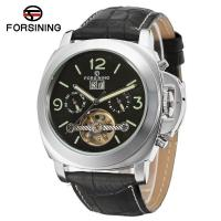 Buy cheap Forsining Hollow Tourbillon Mens Automatic Watch Style Leather Band from wholesalers