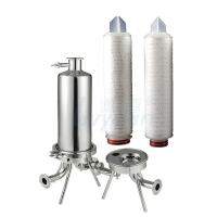 Buy cheap oil filed  treatment OD 2.5 inch 222/fin 5 microns pleated fiber material oil filter element cartridge product