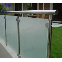 Buy cheap Terrace Frosted Glass Panel Stainless Steel Post Balcony Fence product