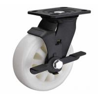 """Buy cheap 6""""x2"""" white nylon wheel for heavy duty caster with side brake black lacquer from wholesalers"""