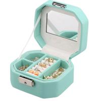 Buy cheap Octagon Leather Lockable Jewelry Box Organizer For Storing Rings / Earrings product