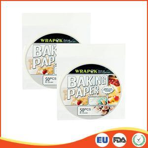 Buy cheap 円形のシリコーンのペーパーは/ベーキング、専門の硫酸紙シートのために調理広がります product