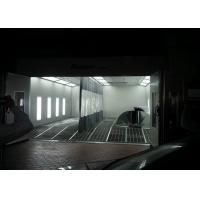 China Car Spray Booth Inner Ramp Full Downdraft With LED Riello Burner Heating on sale