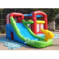 Buy cheap Kids inflatable combo water bounce house with pool N water gun made of best pvc tarpaulin product