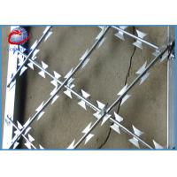 Buy cheap Galvanized Welded Razor Wire Blade Sheet BTO-22 CBT-60 For Security Fence / Screen product