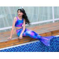 Buy cheap Stretchy Childrens Mermaid Tails Anti - UV 3D Colorful Printing Fabric product