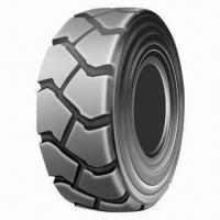 China Forklift Tire, Sizes of 16x6-8, 18x7-8, 21x 8-9, 23x 9-10, 27x10-12, 28x9-15, 250-15, 300-15 on sale