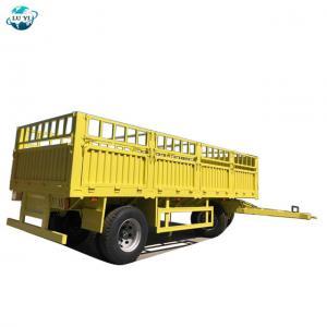Buy cheap High quality 2 Axles Bulk Cargo Fence drawbar full trailer product