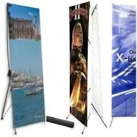 China Custom size 180g PP paper, 220g glossy photo paper tradeshow banner indoor  display stands on sale