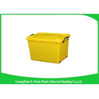 Buy cheap 50 Ltr Reusable Plastic Clear Storage Boxes With Lids Antistatic 560 * 390 * 320mm product