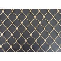 Buy cheap Inox 316 Decorative Rope Mesh / Safety Rope Mesh With 1.2mm-3.2mm Wire Diameter product