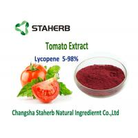 Buy cheap Dark Red Powder Natural Tomato Extract 5%-98% Lycopene Water Soluble Anti - Aging product