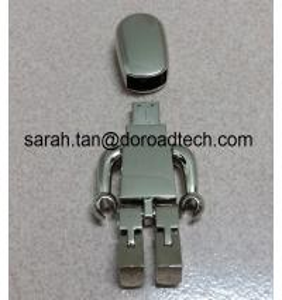 Buy cheap De haute qualité TOUT LE lecteur 2,0, commandes d'instantané d'USB de robot en métal d'USB de cadeau avec le logo d'impression laser product