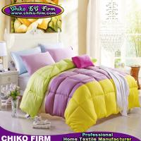 China Solid Colors Micforiter Pure Polyester Queen Bed Comforters on Sale on sale
