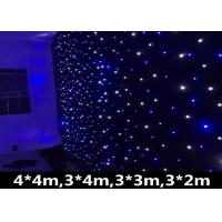 Buy cheap AC90-240V LED Stage Star Backdrop Wedding Party Curtain Retardant Background from wholesalers