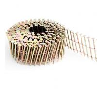 China Diamond Point Pallet Coil Nails With Flat Head / Checked Head .092  1 1/4-2 1/2 on sale