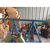 Buy cheap Line Construction Wire Reel Stands , Ton Adjustable Cable Jack Stands product