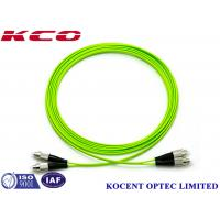 Buy cheap FC-FC OM5 Optical Fiber Patch Cable Jumper Cord 100G Multimode 50/125 Lime Green PVC product