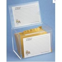 Hot Sale!!! Factory Handmade Manufacturing Acrylic Clear Recipe Card Box for 4x6