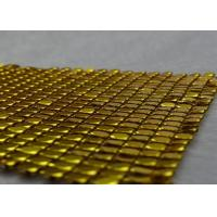 Buy cheap Silver / Gold Metallic Mesh Fabric Easy Cleaning Sun Proof Modern Decorating Style product