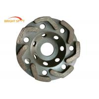 China L Shape Segments Granite Grinding Wheel Wet And Dry With Lightweight Steel Core on sale