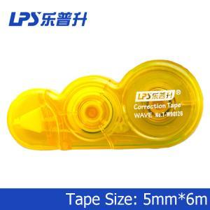 Los LPS ACARICIAN el mini Highlighter amarillo innovador T-W90126 de los efectos de escritorio de la oficina de la cinta de corrección
