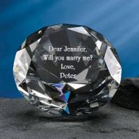 Quality Crystal Diamond Paperweight for sale