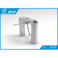 China Staff Entrance Arm Stainless Steel Turnstiles Remote Light Indicators Smooth Rotation on sale