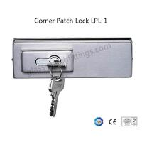 Buy cheap Single Throw Frameless Glass Door Hardware , Corner Patch Lock With Strike Plate product