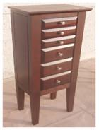 Buy cheap Brown Color Wooden Jewelry Box Moisture Proof With Sturdy / Durable Frame product
