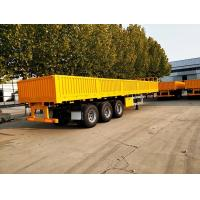 Buy cheap Three - Axle 40ft 30 Ton Cargo Semi Trailer Side Wall Mechanical Suspension product