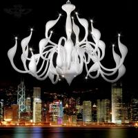 China Art Deco European Candle Crystal LED Swan Chandeliers Ceiling Bedroom Living Room Modern Decoration G4 24 Lighting Free on sale