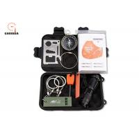 Buy cheap 9-In-1 Compact Emergency Survival Kit , Outdoor Survival Gear Kits with Gift Box product